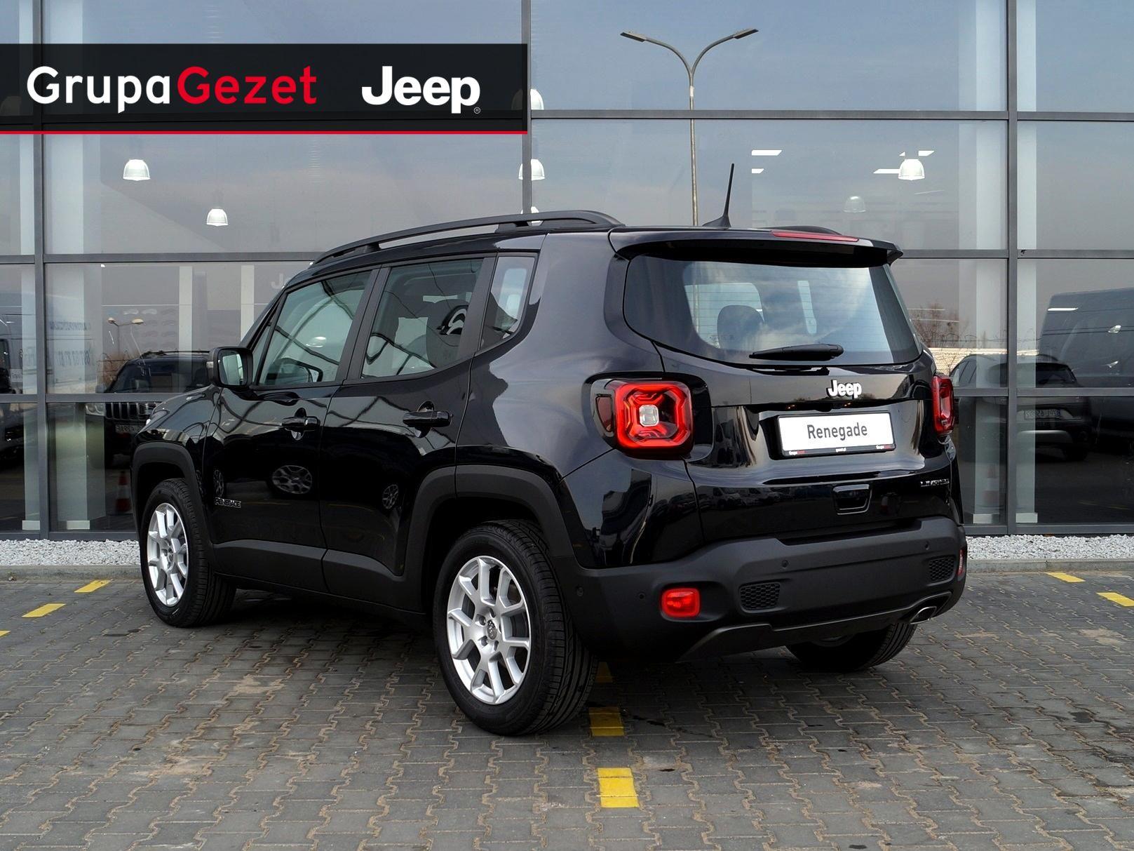 Bardzo dobry Jeep Renegade Limited GSE T4 Turbo 150KM DDCT Carbon Black | Kolor JS83