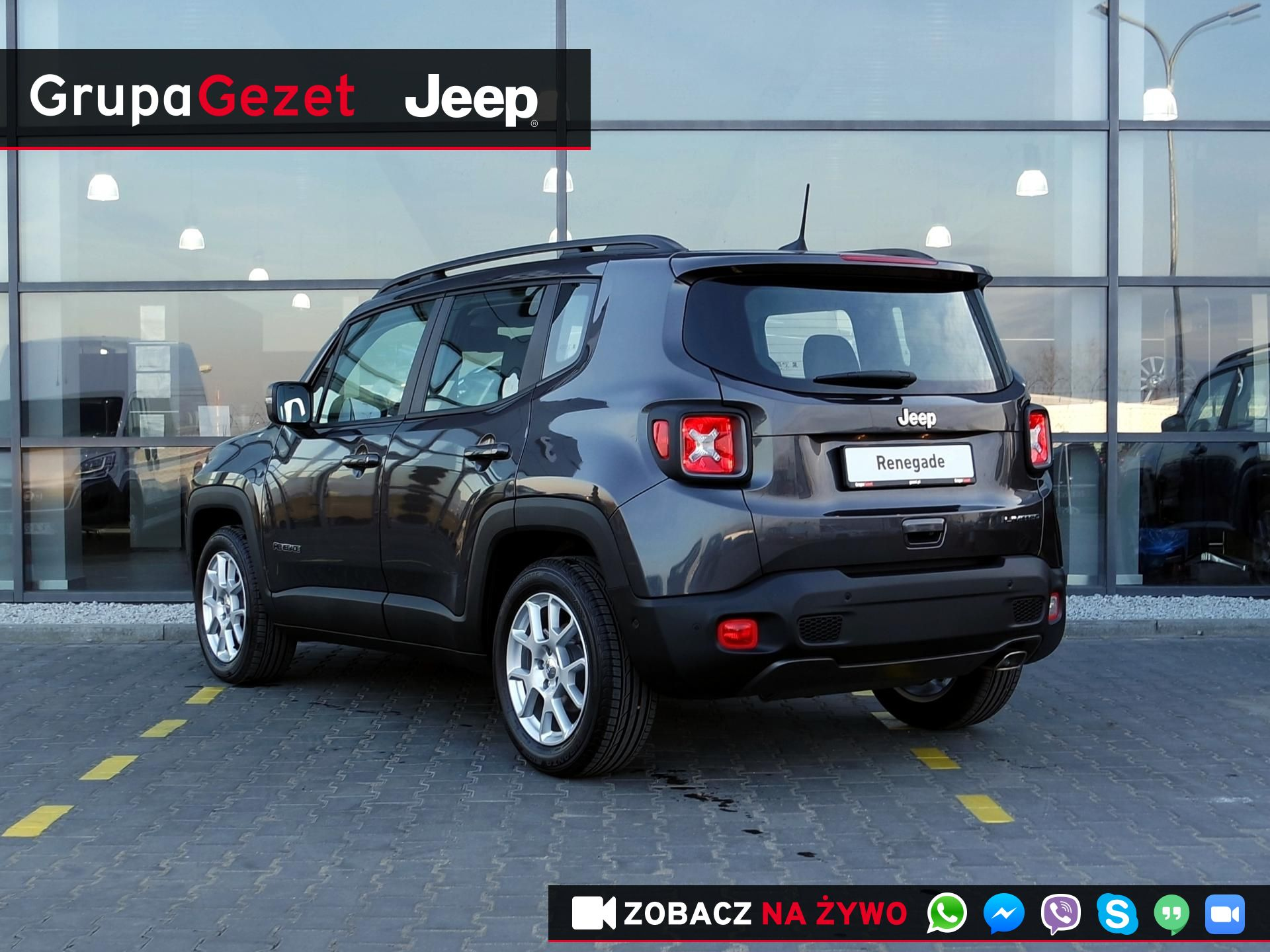 Chwalebne Jeep Renegade Limited GSE T4 Turbo 150KM DDCT Granite Crystal YK98